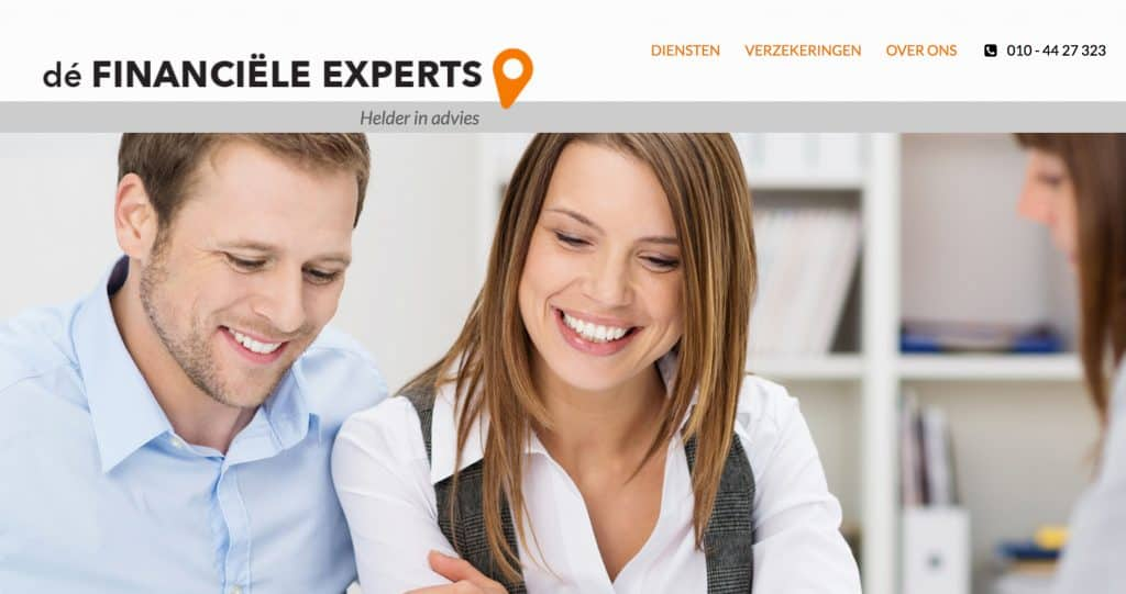 Wordpress website voor de Financiele Experts